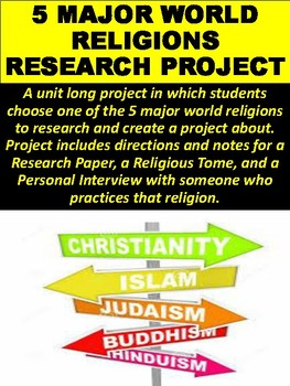 Major World Religions Research Project By Mz S English Teacher - 5 major world religions