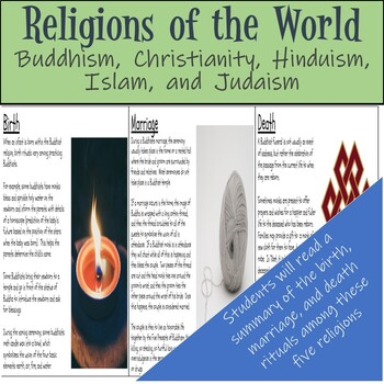 World Religions Readings - Buddhism, Christianity, Hinduism, Islam, and Judaism