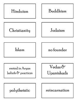 World Religions Sort