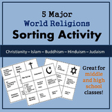 World Religions Sorting Activity