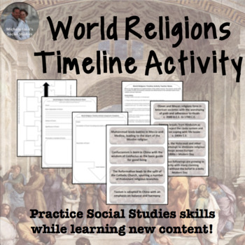 World Religions Timeline Project Activity