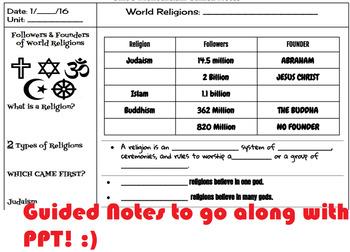World Religions UNIT PLAN! :)