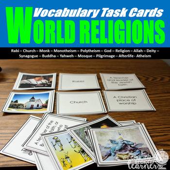 World Religions Vocabulary Task Cards