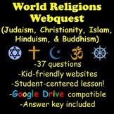 World Religions Webquest (Judaism, Christianity, Islam, Hinduism, and Buddhism)
