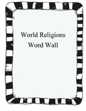 World Religions Word Wall