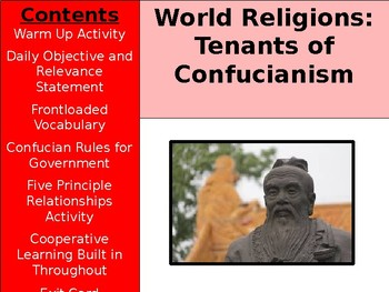 World Religions and Ethical Systems - Confucian Tenants