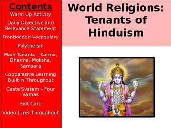 World Religions and Ethical Systems - Hinduism Tenants