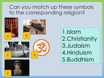World Religions and Tolerance / learn about your neighbor's faith full lesson