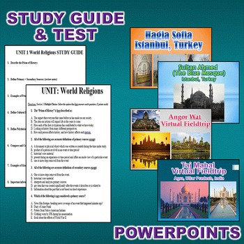 World Religions Activity Bundle (World History / Comparative Religions)