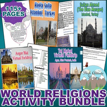 World Religions Activity Bundle (World History / Comparative Religions)