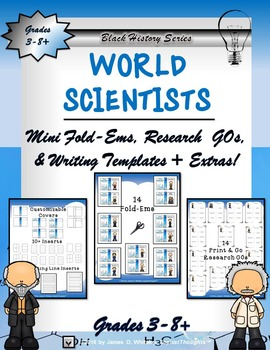World Scientists Mini Research Fold-Ems and Activities
