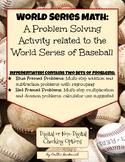 World Series Math- Enrichment Problem Solving Activity (Di