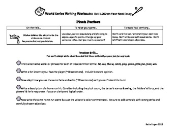 World Series Writing Workouts - Batting 1.000 on Essay Writing