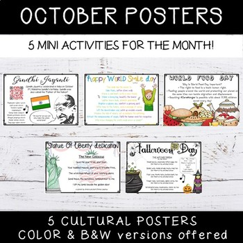 October Special Events - Informational Posters Freebie