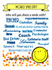 World Smile Day Poster: Coach Bus Driver Principal Cafeteria Worker
