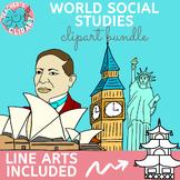 World Social Studies clip art {Bundle}
