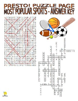 World Sports Puzzle Page (Wordsearch and Criss-Cross)