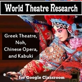 World Theatre (Theater) Research: Greek Theatre, Chinese Opera, Noh, and Kabuki