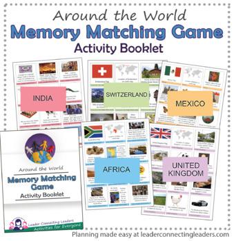 Around the World Memory Matching Game: Thinking Day Resource