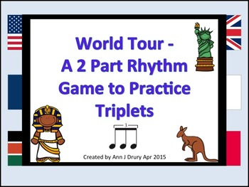 World Tour - A 2 Part Game for Practicing Triplets