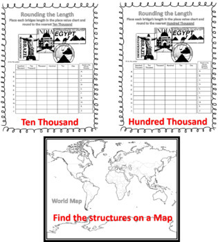 Rounding Numbers From Around the World and Extra Math Skill Practice