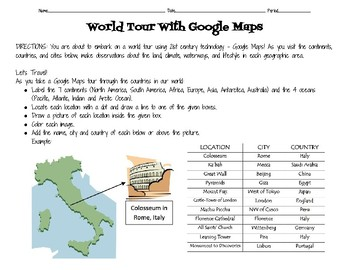 World tour with google maps by heathers online classroom tpt world tour with google maps gumiabroncs Gallery