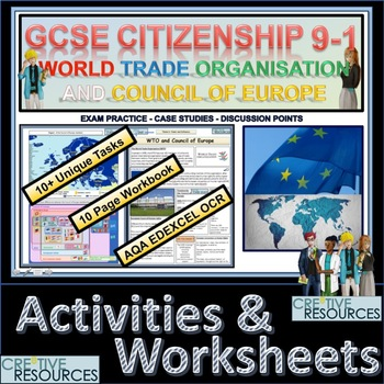 World Trade Organisation WTO Activity Pack