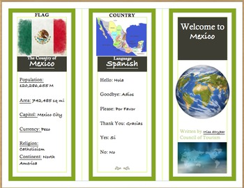 photo relating to Printable Travel Brochures titled Earth Generate Brochure Match