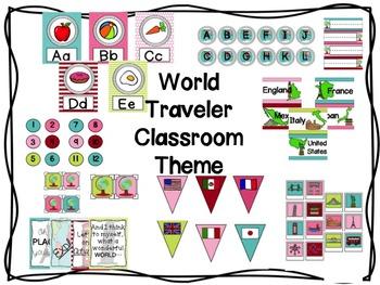 World Traveler Classroom Theme