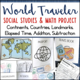 Social Studies & Math Research Project Continents Elapsed Time Addition Writing