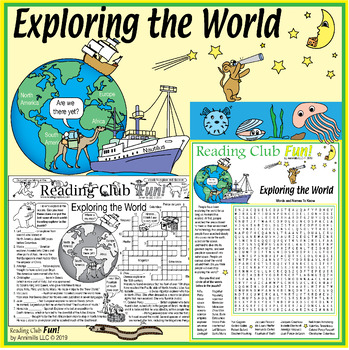 World-Traveling Explorers Two-Page Activity Set