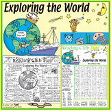 World-Traveling Explorers Puzzles – Crosswords, Word Searc