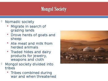 World - Unit 15 (Mongols) PPT with Notes