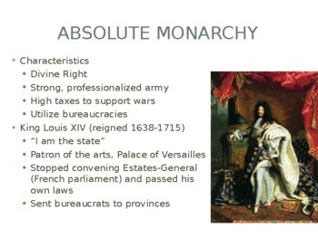 World - Unit 18 (16th - 18th c. in Europe) PPT with Notes