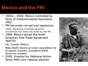 World - Unit 22 (20th c. Latin America) PPT with Notes