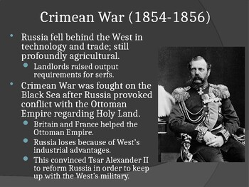 World - Unit 28 (19th c. Russia and Japan) PPT with Notes