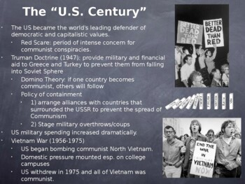 World - Unit 32 (Cold War) PPT with Notes