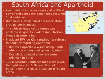 World - Unit 34 (20th c. in Africa and Middle East) PPT with Notes