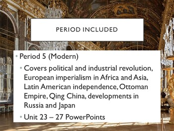 World - Units 24 - 28 PPTs with Notes