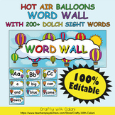 Word Wall Classroom Decoration in Hot Air Balloons Theme -