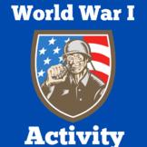 World War 1 | 3rd 4th 5th 6th 7th Grade | Task Card Activity