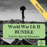 World War 1 & 2 BUNDLE for Special Education