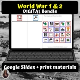 World War 1 &2 Bundle for Special Ed for google classroom