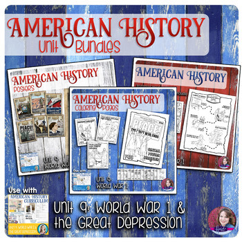 World War 1 and The Great Depression Activities Bundle - US History