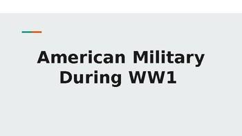 World War 1 - American Military Activity