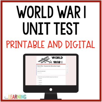 World War 1 Assessment