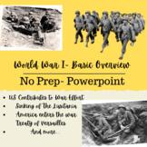 World War 1 Basic Overview - Powerpoint