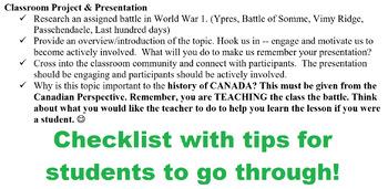 World War 1 Battles- Project Instructions!