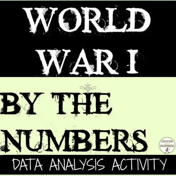 World War 1 Project By the numbers Data Analysis and Social Scientist