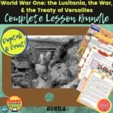 World War 1: COMPLETE LESSON BUNDLE  DIGITAL & Print